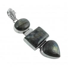 Fantastic 925 Sterling Silver Labradorite Pendant