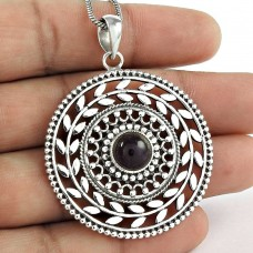 Big Relief Stone! Amethyst 925 Sterling Silver Pendant
