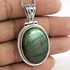 New Fashion! Labradorite 925 Sterling Silver Pendant