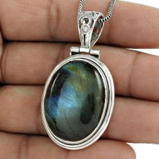 Abstract!! Labradorite 925 Sterling Silver Pendant Al por mayor