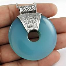 Beautiful Design 925 Sterling Silver Chalcedony Bohemian Pendant Grossiste