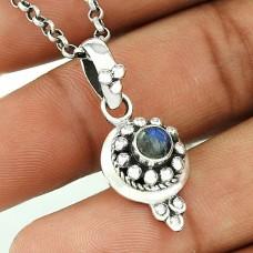 Large Stunning Rainbow Moonstone Silver Pendant Jewellery