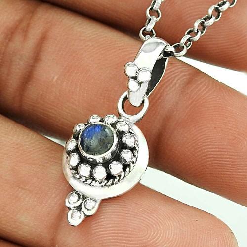 Ostensible Rainbow Moonstone Silver Pendant Jewellery