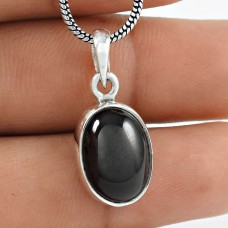 Fantastic Quality Black Star Gemstone Silver Jewellery Pendant