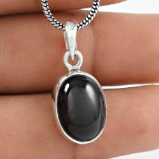 Fantastic Quality Black Star Gemstone Silver Jewellery Pendant