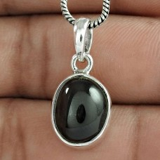 Rattling Black Star Gemstone Silver Jewellery Pendant