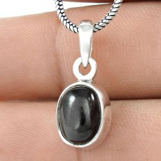 Beloved Black Star Gemstone Silver Jewellery Pendant