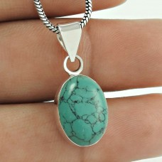 Great Collection Turquoise Gemstone Silver Jewellery Pendant Supplier