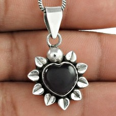 925 Sterling Silver Jewellery !! Love Circle Black Onyx Gemstone Silver Jewellery Pendant Großhändler