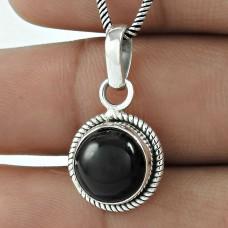 925 Sterling Silver Jewellery !! Original Black Onyx Gemstone Silver Jewellery Pendant