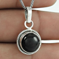925 Sterling Silver Jewellery !! Scallywag Black Onyx Gemstone Silver Jewellery Pendant
