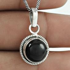 925 Sterling Silver Jewellery !! Scallywag Black Onyx Gemstone Silver Jewellery Pendant