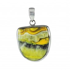 Well-Favoured Bumble Bee Gemstone Sterling Silver Pendant Jewellery