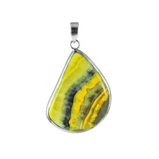 Bold Vintage Energetic Bumble Bee Gemstone Sterling Silver Pendant Jewellery