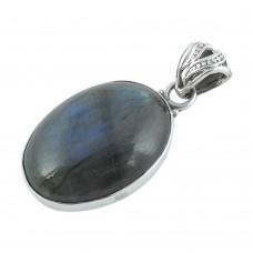 Misty Morning 925 Sterling Silver Labradorite Pendant