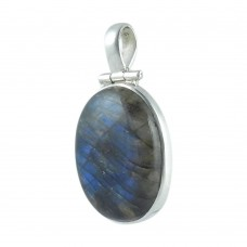 First Sight Light! 925 Sterling Silver Labradorite Pendant