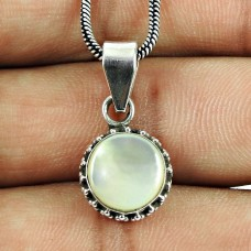Perfect Mother Of Pearl Sterling Silver Pendant Sterling Silver Jewellery