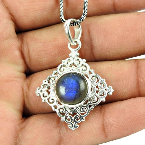 925 Sterling Silver Jewellery Ethnic Labradorite Gemstone Pendant Wholesaler