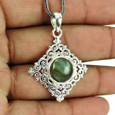 Indian Sterling Silver Jewellery Charming Labradorite Gemstone Pendant