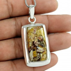 Indian Sterling Silver Jewellery Ethnic Brecciated Mookaite Gemstone Pendant Fournisseur