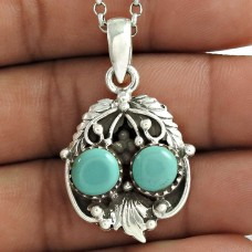 Passionate Love !! 925 Sterling Silver Turquoise Pendant