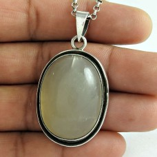 Hot Style 925 Sterling Silver Moon Stone Gemstone Pendant