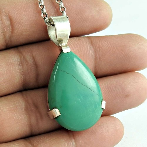 Passionate Love 925 Sterling Silver Turquoise Gemstone Pendant