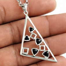 Best Quality 925 Sterling Silver Black Onyx Gemstone Pendant