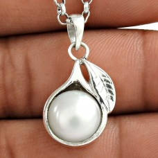 Delightful 925 Sterling Silver Pearl Pendant