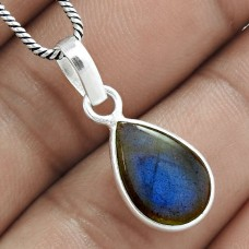 Excellent 925 Sterling Silver Labradorite Gemstone Pendant Handmade Jewellery