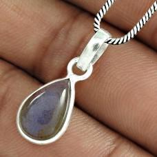 Pretty 925 Sterling Silver Labradorite Gemstone Pendant Handmade Jewellery