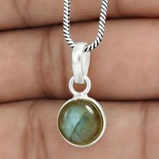 Lovely 925 Sterling Silver Labradorite Gemstone Charm Pendant Handmade Jewelry