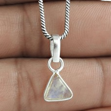 Seemly 925 Sterling Silver Rainbow Moonstone Pendant Jewelry