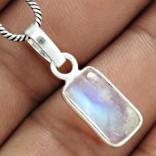 Latest Trend 925 Sterling Silver Rainbow Moonstone Pendant Jewelry