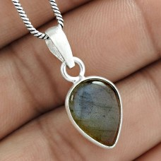 Possessing Good Fortune 925 Sterling Silver Labradorite Gemstone Pendant Jewelry