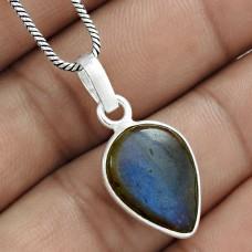 Beautiful 925 Sterling Silver Labradorite Gemstone Pendant Wholesale Jewelry