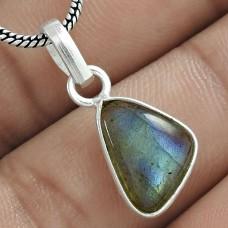 Latest Trend 925 Sterling Silver Labradorite Gemstone Pendant Jewelry