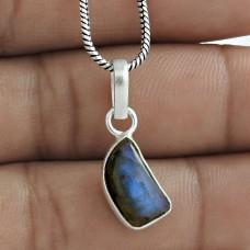 Designer 925 Sterling Silver Labradorite Gemstone Pendant Jewelry