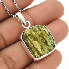 HANDMADE 925 Sterling Silver Jewelry Natural LABRADORITE Stylish Pendant T10