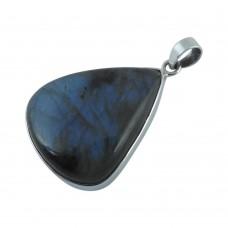 Amazing Design! 925 Sterling Silver Labradorite Pendant