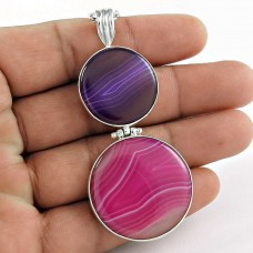 Sterling Silver Fashion Jewellery Rare Natural Designer Agate Gemstone Pendant Lieferant