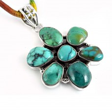 925 Sterling Silver Jewellery Fashion Turquoise Gemstone Pendant Großhändler