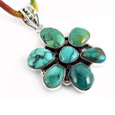 925 Sterling Silver Jewellery Fashion Turquoise Gemstone Pendant Großhändler