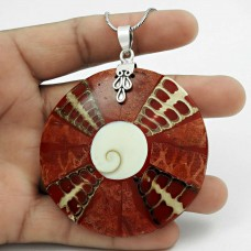 High Work Quality! 925 Sterling Silver Shell Pendant