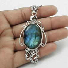 Mystic Princess! 925 Sterling Silver Labradorite Pendant