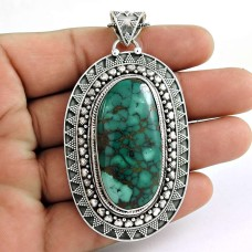 Passionate Love!! 925 Sterling Silver Turquoise Pendant