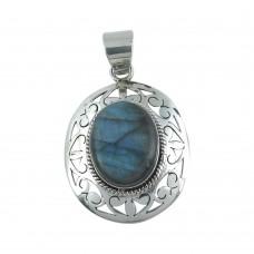 Lovely! 925 Sterling Silver Labradorite Pendant