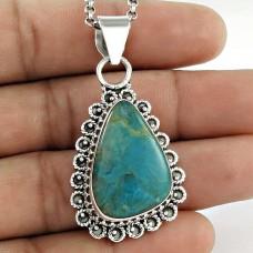 925 Sterling Silver Antique Jewellery Beautiful Azurite Bohemian Pendant Al por mayor