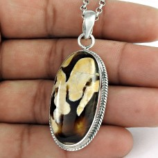 Top Quality African!! 925 Sterling Silver Peanut Wood Pendant