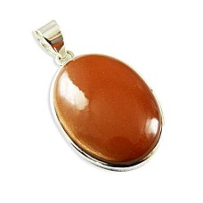 925 Sterling Silver Jewellery Traditional Red Sun Sitara Gemstone Pendant De gros